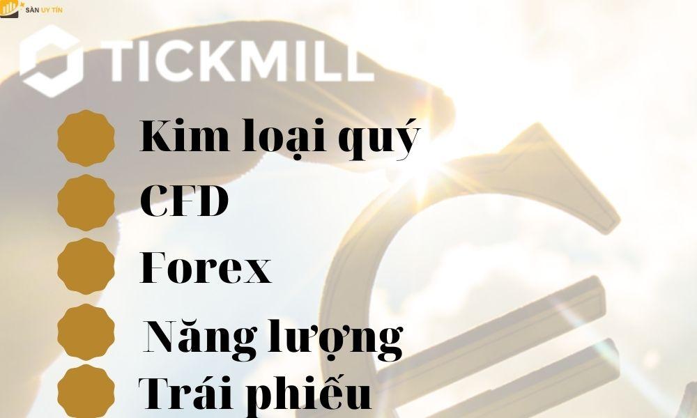 Sản phẩm giao dịch tại Tickmill