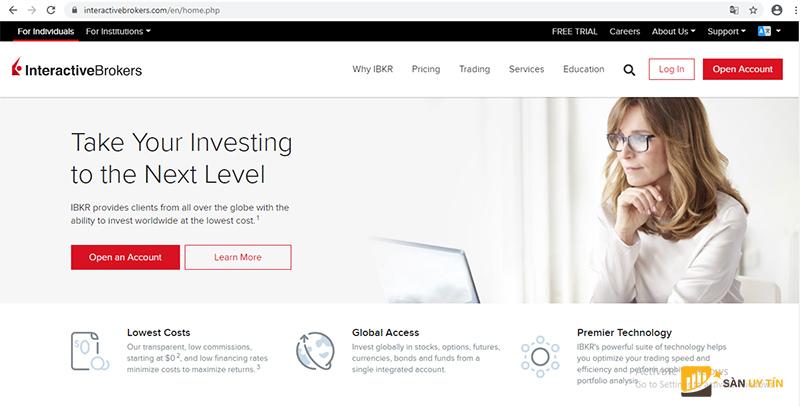 Interactive Brokers cũng là một trong các sàn Forex uy tín nhất thế giới