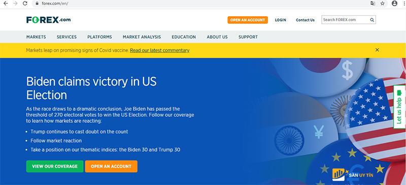 Top 10 sàn giao dịch forex tốt nhất thế giới: Forex.com