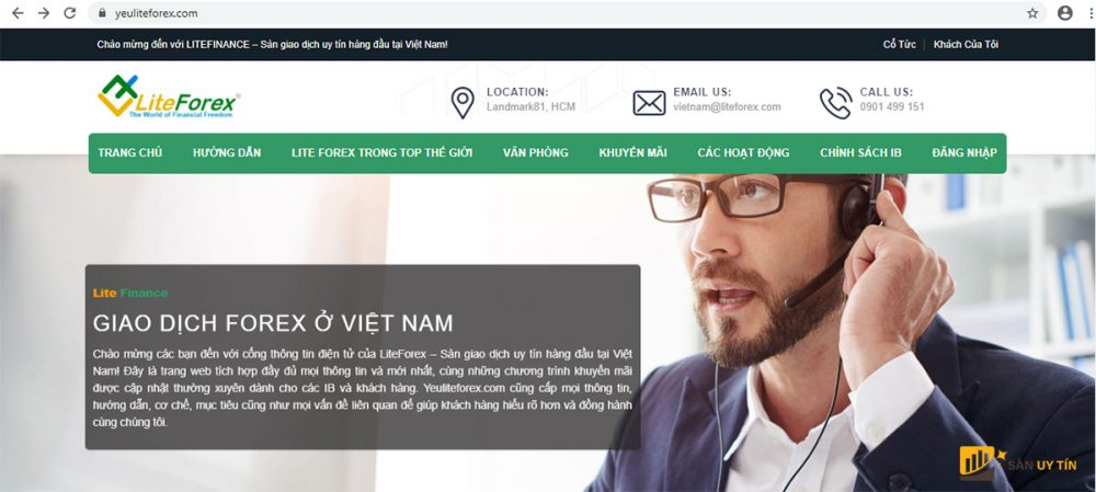 Trang chủ của sàn LiteFinance Việt Nam