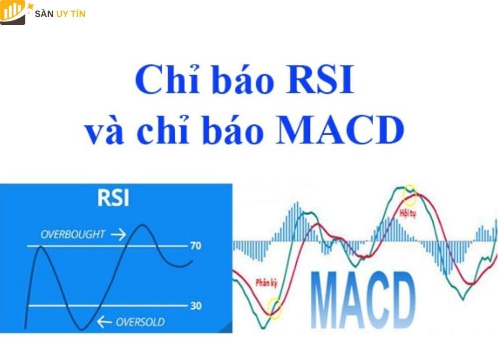 Sự khác nhau giữa cách sử dụng RSI và MACD
