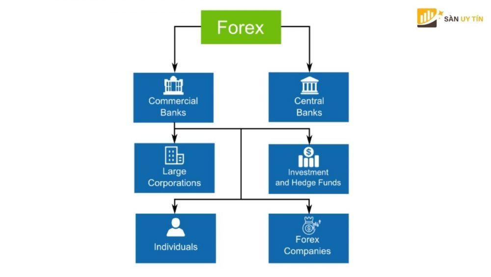 Những thành viên tham gia vào thị trường Forex