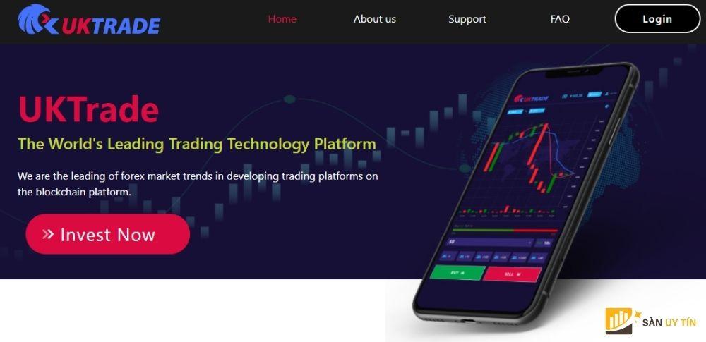 Website của sàn nhị phân UKTrade Global