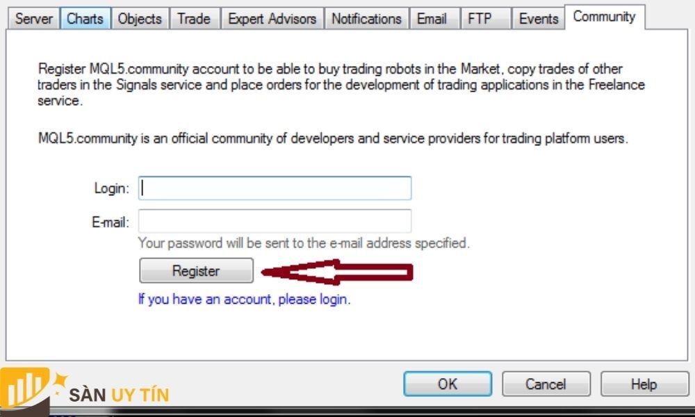 Nhập thông tin cá nhân trader vào hình trên
