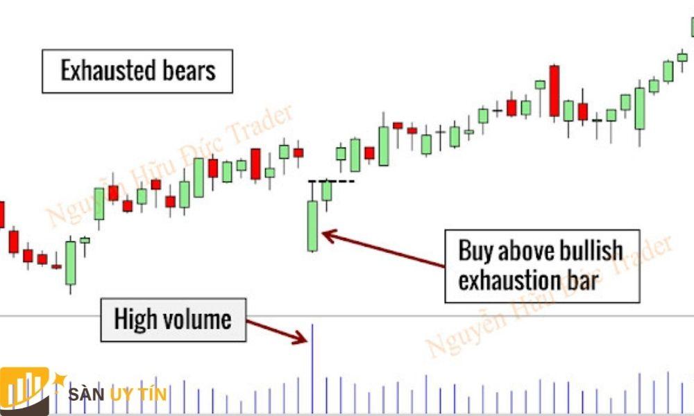 Trader có thể trade nến như hướng dẫn hình trên