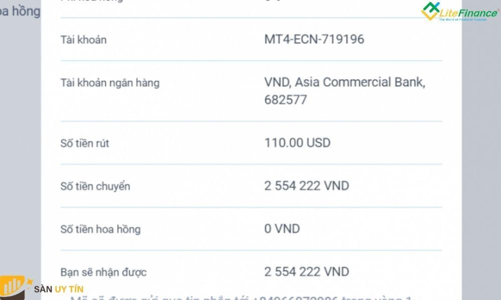 Hướng dẫn trader cách rút tiền