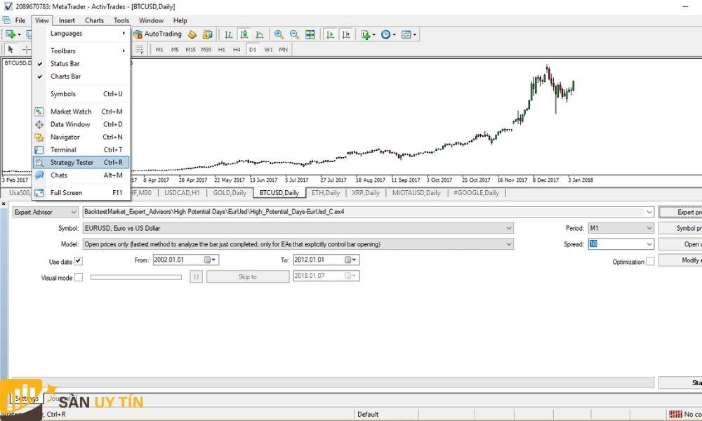 Trader chỉ cần nhìn vào hình bên dưới sẽ hiểu hơn