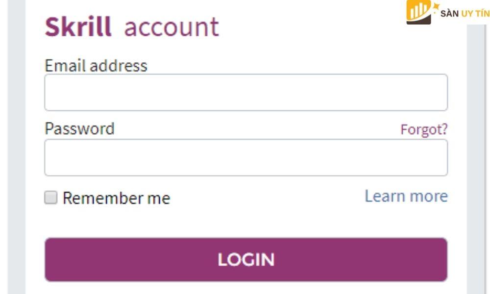 Điền địa chỉ Email và password để thực hiện nạp tiền