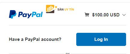 Nạp tiền vào FxPro thông qua Paypal