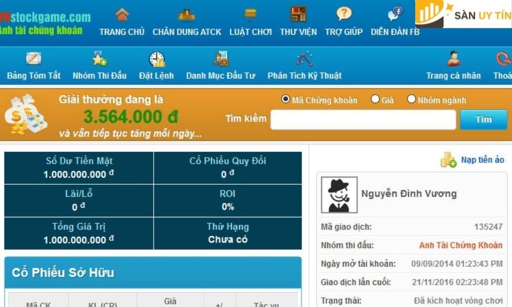 Đây là một trong những broker ảo lớn nhất trên thị trường Việt Nam