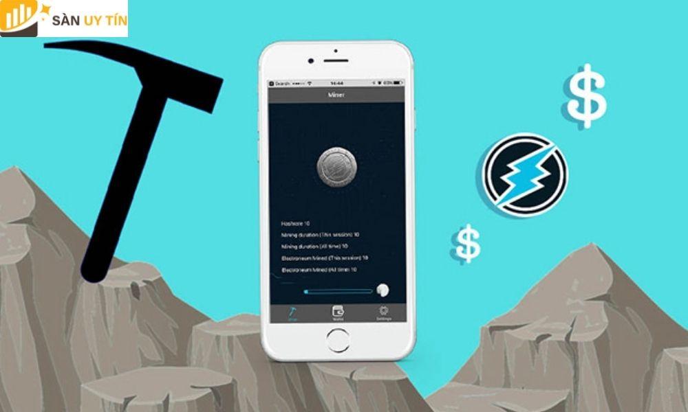 App đào Coin bằng điện thoại hay được biết đến với tên khác là cày Bitcoin