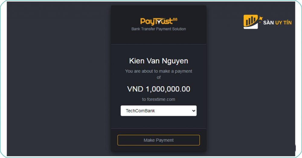 Xác nhận qua Make Payment