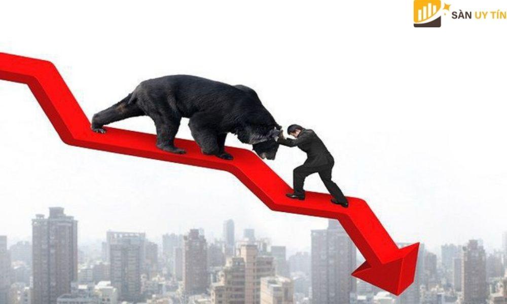 Bearish còn được biết đến là một thị trường có xu hướng giảm giá