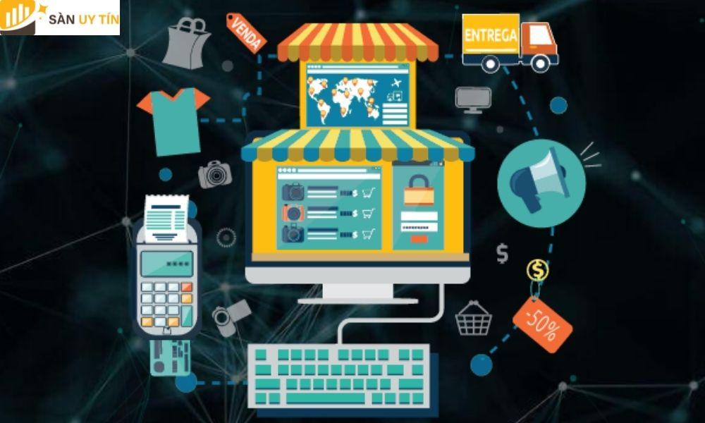 Cho phép người dùng thực hiện quá trình mua hoặc bán các sản phẩm trên các dịch vụ giao dịch trực tuyến hoặc qua Internet