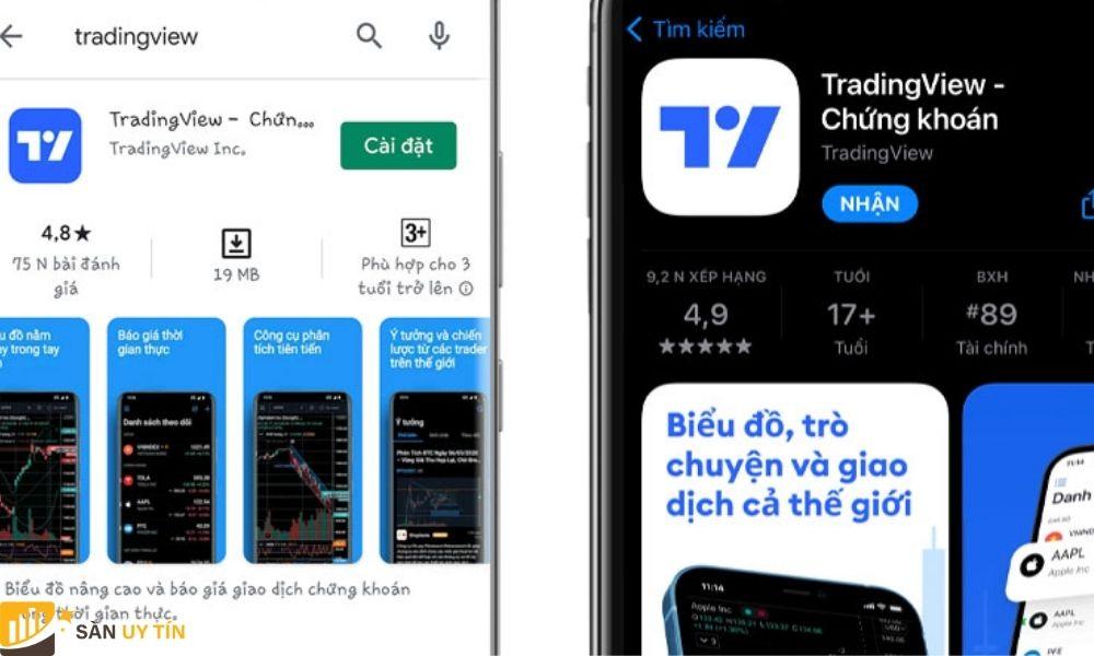 Hướng dẫn sử dụng Tradingview trên điện thoại