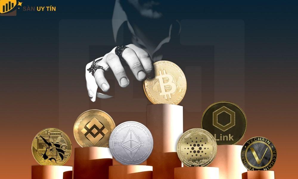 Giá trị của các coin rác thấp và một phần là bị đồng Bitcoin chi phối
