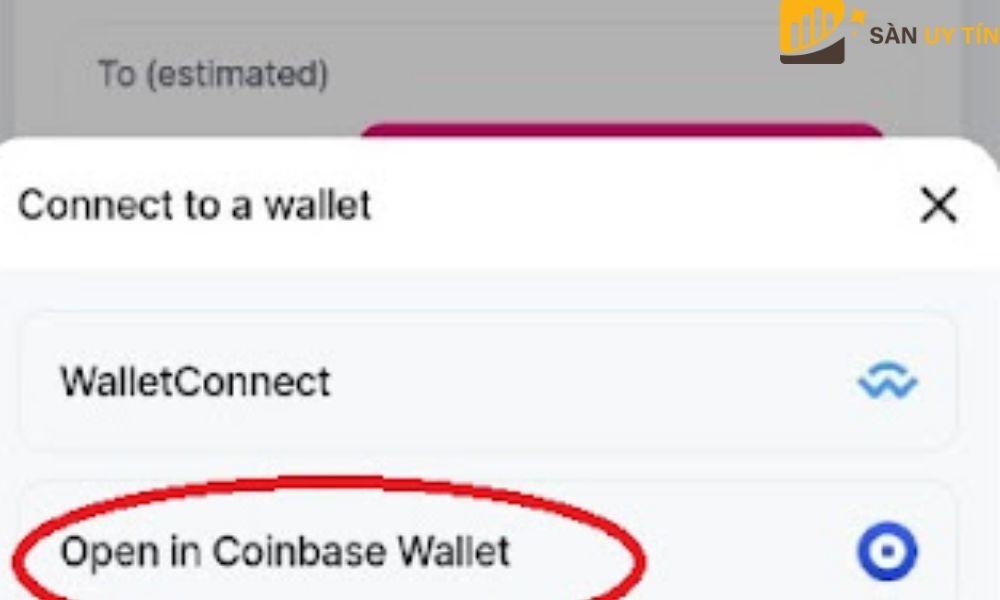 Lựa chọn một ví để lưu trữ đồng coin của sàn Uniswap